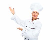 Mulher do cozinheiro chefe. Imagens de Stock