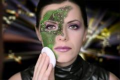Mulher do Cyber Fotografia de Stock Royalty Free