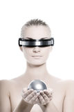Mulher do Cyber Fotografia de Stock