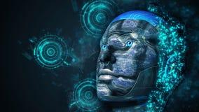 Mulher do Cyborg - Humanoid imagem de stock