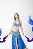 Mulher do dançarino de barriga Imagem de Stock