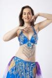 Mulher do dançarino de barriga Fotografia de Stock