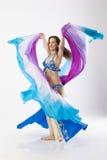 Mulher do dançarino de barriga Foto de Stock Royalty Free