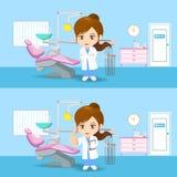 Mulher do dentista do doutor dos desenhos animados