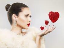 Mulher do dia de Valentim Imagem de Stock