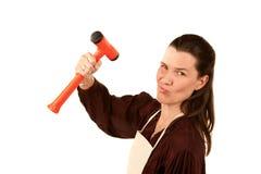 Mulher do Do-it-yourself imagem de stock royalty free