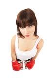 Mulher do encaixotamento fotografia de stock