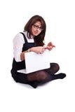 Mulher do escritório no estúdio Imagens de Stock