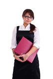Mulher do escritório no estúdio Imagens de Stock Royalty Free