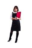 Mulher do escritório no estúdio Fotos de Stock