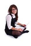 Mulher do escritório no studdio Foto de Stock Royalty Free