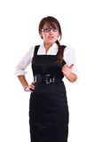 Mulher do escritório no studdio Fotos de Stock Royalty Free