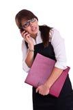 Mulher do escritório no studdio Fotos de Stock