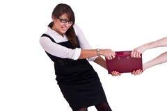 Mulher do escritório no studdio Imagem de Stock Royalty Free