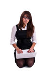 Mulher do escritório no studdio Imagem de Stock