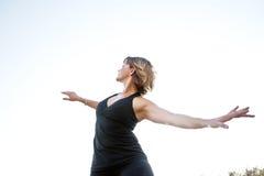 Mulher do espírito livre Fotografia de Stock