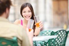 Mulher do estilo de vida do café Imagens de Stock Royalty Free