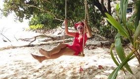 Mulher do estilo de vida de Seychelles vídeos de arquivo