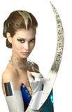Mulher do estrangeiro da beleza imagens de stock