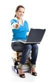 Mulher do estudante de Sucessful Fotos de Stock