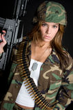 Mulher do exército fotos de stock
