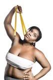 Mulher do excesso de peso fotografia de stock royalty free