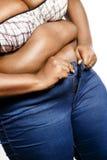 Mulher do excesso de peso fotos de stock