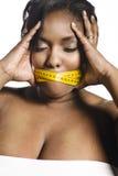 Mulher do excesso de peso imagens de stock royalty free