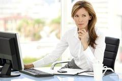Mulher do executivo empresarial Foto de Stock
