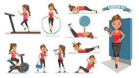 Mulher do exercício ilustração stock