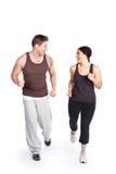 Mulher do exercício com instrutor Fotografia de Stock Royalty Free