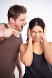 Mulher do exercício com instrutor Imagem de Stock Royalty Free