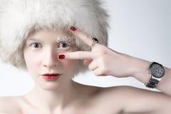 Mulher do gelo foto de stock