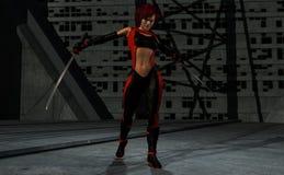 Mulher do guerreiro Fotografia de Stock
