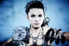 Mulher do guerreiro. imagens de stock royalty free