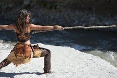 Mulher do guerreiro da procura da visão Fotos de Stock