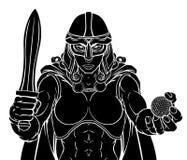 Mulher do guerreiro de Viking Trojan Celtic Knight Golf ilustração royalty free
