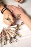 Mulher do Henna Fotografia de Stock Royalty Free