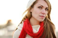 Mulher do inverno Fotografia de Stock