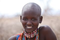 Mulher do Masai Foto de Stock Royalty Free