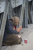 Mulher do mendigo Foto de Stock