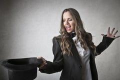 Mulher do mágico Fotografia de Stock
