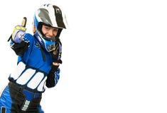Mulher do motociclista Imagem de Stock