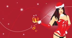 Mulher do Natal ilustração stock
