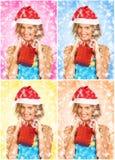 Mulher do Natal fotos de stock