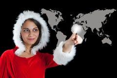 Mulher do Natal Fotografia de Stock Royalty Free