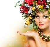 Mulher do Natal Imagens de Stock Royalty Free