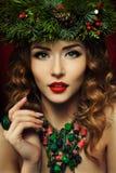 Mulher do Natal Fotos de Stock Royalty Free