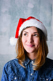 Mulher do Natal feliz imagem de stock royalty free