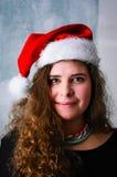 Mulher do Natal feliz foto de stock royalty free